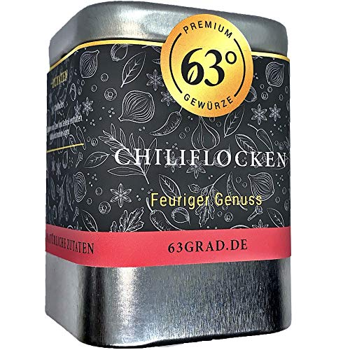 63 Grad - Chiliflocken - Chili Flocken - Crushed Chili (50g) von 63 Grad