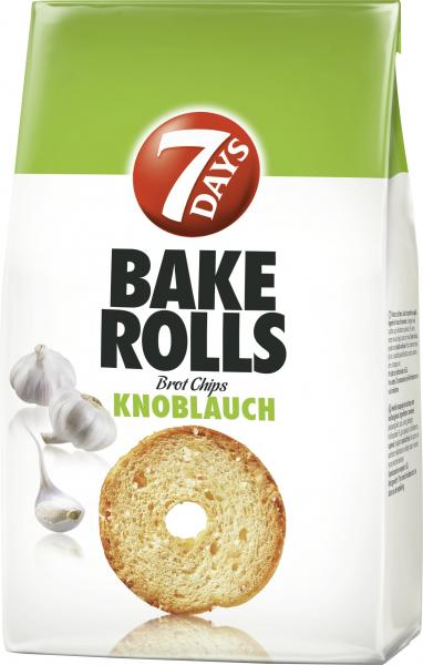 7 Days Bake Rolls Brot Chips Knoblauch von 7 Days