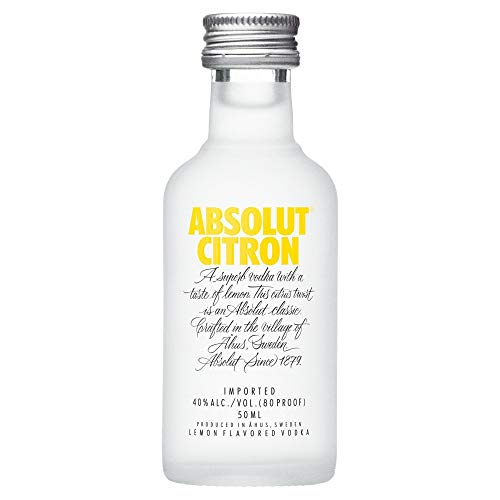 Absolut Vodka Citron 5 cl Miniatur von Absolut