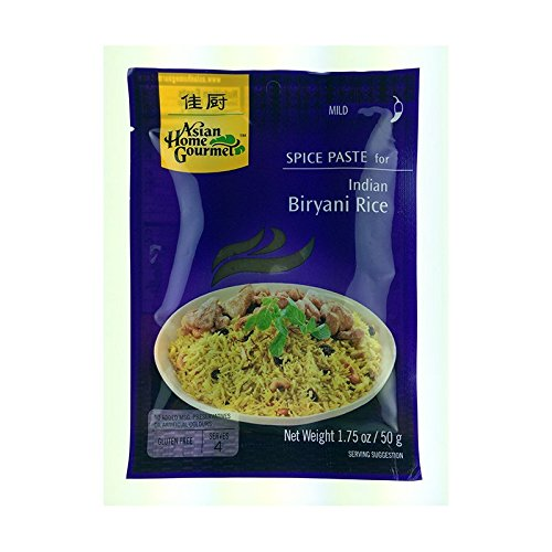 Spice Paste For Indian ASIAN HOME GOURMET, Biryani Rice, 50g von Asian Home Gourmet