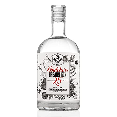 Butchers Breaks Gin 25, Handcrafted in Karlsruhe, Sonderedition, 44% vol., 500 ml Flasche von Breaks