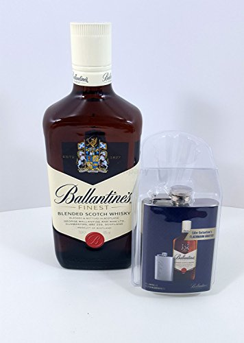 Ballantines Finest Blended Scotch Whisky 70cl (40% Vol) + Ballantines Flachmann von Ballantine's