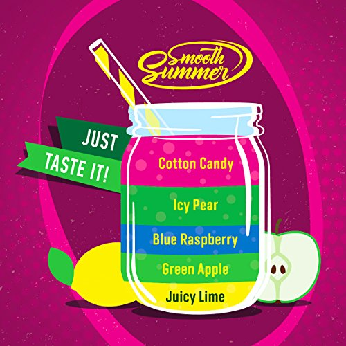 Juicy Lime – Green Apple - Blue Raspberry – Icy Pear – Cotton Candy (JGBIC) - Sommer Fizzy - Big Mouth Aroma 10ml von BigMouth Inc.