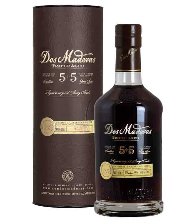 Dos Maderas 5 + 5 PX Triple Aged Rum (40 % Vol., 0,7 Liter) von Bodegas Williams & Humbert