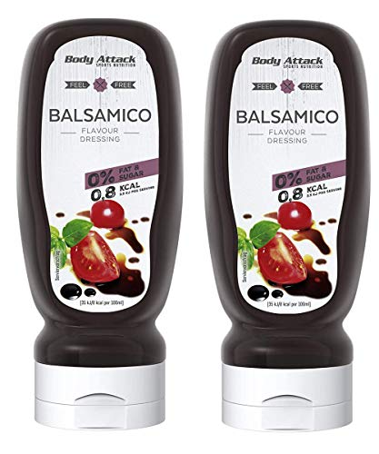 Body Attack Salatdressing - Vegan und Low Carb, 2er Pack (2x 320ml) (Balsamico) von Body Attack Sports Nutrition