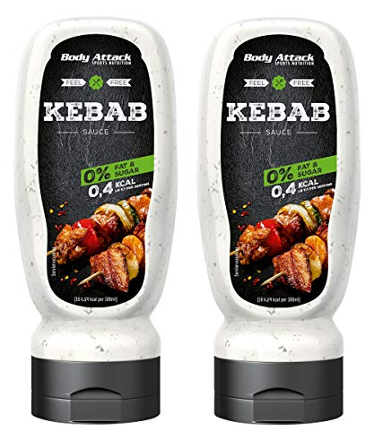 Body Attack Kebab Sauce, 2er Pack (2x 320ml) von Body Attack Sports Nutrition