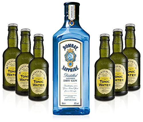 Gin Tonic Set - Bombay Sapphire 70cl (40% Vol) + 6x Fentimans Tonic Water 200ml + Siegfried Gin mini 4cl (41% Vol) von Bombay Sapphire