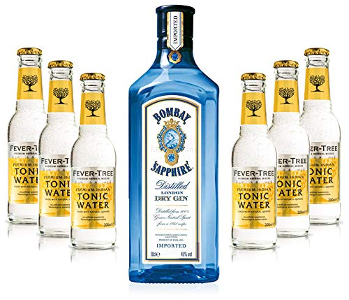 Gin Tonic Set - Bombay Sapphire 70cl (40% Vol) + 6x Fever Tree Tonic Water 200ml + Siegfried Gin mini 4cl (41% Vol) von Bombay Sapphire