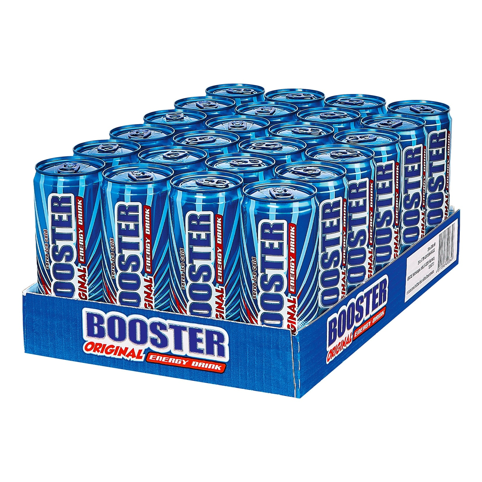 Booster Energy Drink Original 0,33 Liter Dose, 24er Pack von Booster