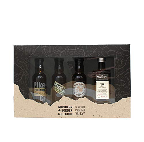 Northern Border Tasting Collection - 4 Minaturen Superior Canadian Whisky - Geschenkset (4 x 0,05l) von Borco