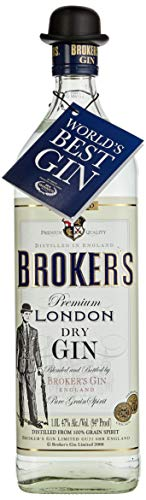 Brokers Gin Premium London Dry Gin 40% vol. (1 x 1 l) von Brokers