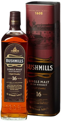 Bushmills 16 Jahre Single Malt Irish Whiskey (1 x 0.7 l) von Bushmills