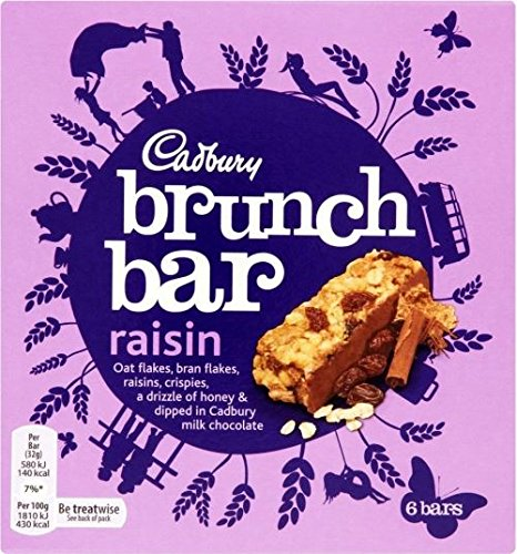 Cadbury Brunch Bar Raisin (6x32g) - Packung mit 6 von Cadbury
