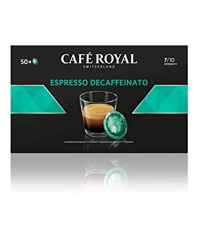 Café Royal Espresso Decaffeinato 50 Nespresso Pro kompatible Kapseln (Intensität 7/10) 1er Pack (1 x 50 Pads) von Café Royal