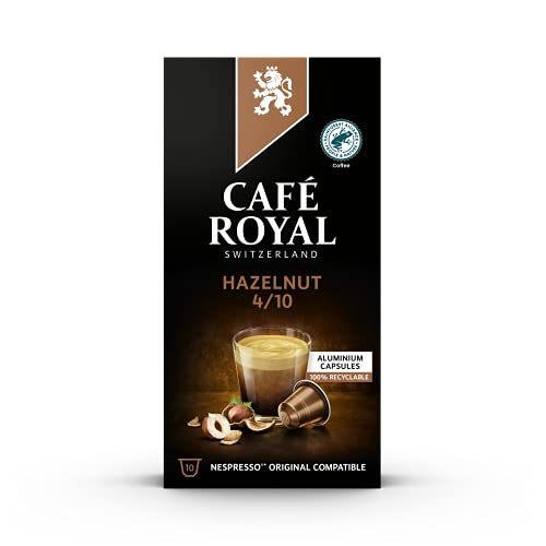 Café Royal Hazelnut Flavoured Edition, 100 Nespresso kompatible Kapseln, 10er Pack (10 x 10 Kaffeekapseln) von Café Royal