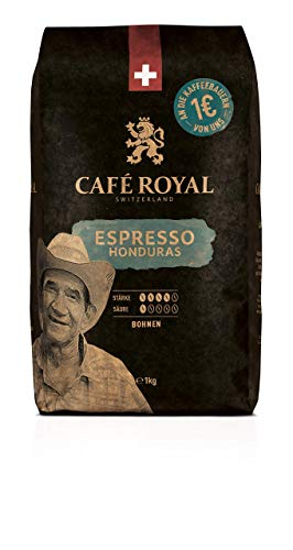 Café Royal Honduras Espresso Bohnenkaffee, Intensität 4/5, 1er Pack (1 x 1 kg) von Café Royal