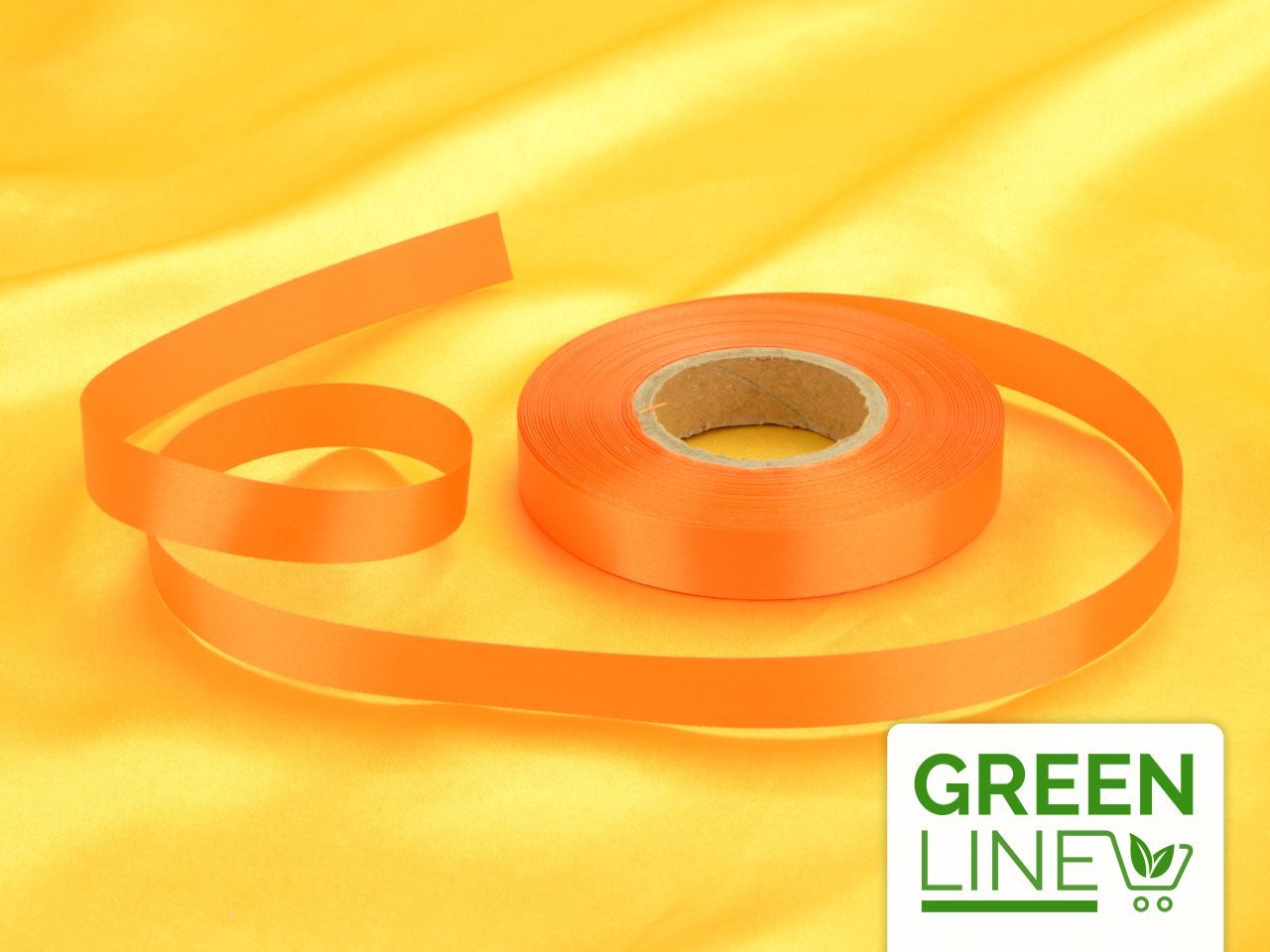 Satinband orange 14mm, 30 Meter GREENLINE von Cake-Masters