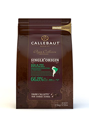 Callebaut Origin, Brazil 66.8% dark chocolate chips 2.5kg von Callebaut