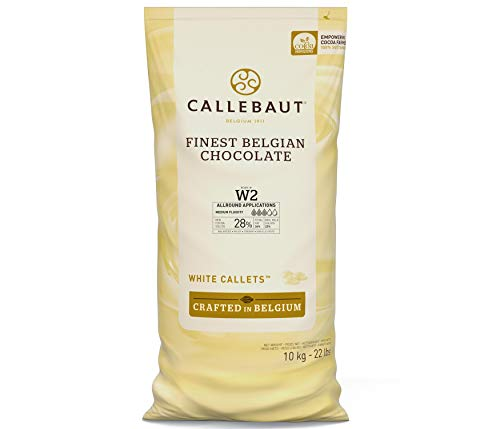 Callebaut white chocolate chips (callets) 10kg von Callebaut