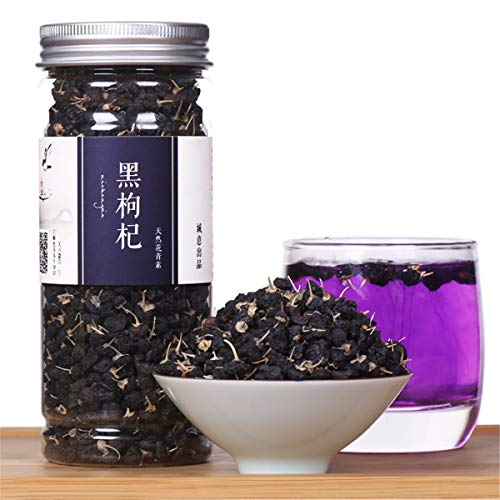 Chinese Herbal Tea Flower Fruit Tea Rose Tea Canned Golden Silk Chrysanthemum Bottled New Scented Tea Health Care Flowers Tea Healthy Green Food (100g Black Wolfberry) von ChinaShoppingMall