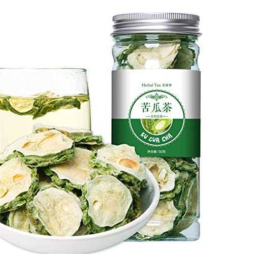 Chinese Herbal Tea Flower Fruit Tea Rose Tea Canned Golden Silk Chrysanthemum Bottled New Scented Tea Health Care Flowers Tea Healthy Green Food (50g Bitter Gourd Tea) von ChinaShoppingMall