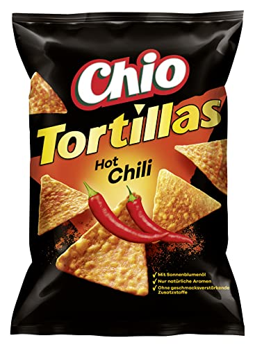 Chio Tortilla Chips Hot Chili, 10er Pack (10 x 125 g) von Chio