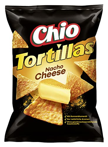 Chio Tortilla Chips Nacho Cheese, 10er Pack (10 x 125 g) von Chio
