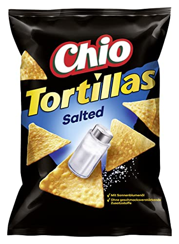 Chio Tortilla Chips Original Salted, 10er Pack (10 x 125 g) von Chio