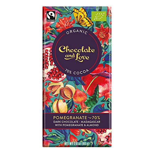 Chocolate and Love Bio Pomegranate - 70% Dark Chocolate and Pomegranate (1 x 80 gr) von Chocolate & Love