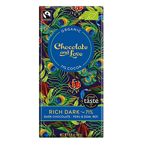 Chocolate and Love Bio Rich Dark Chocolate 71% - Peru & Dom. Rep. (1 x 80 gr) von Chocolate & Love