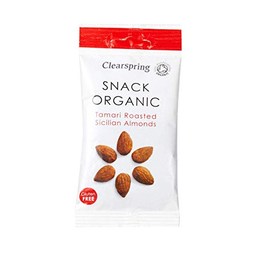 12 x Clearspring Organic Tamari Roasted Sicilian Almonds Snack 30g von Clearspring