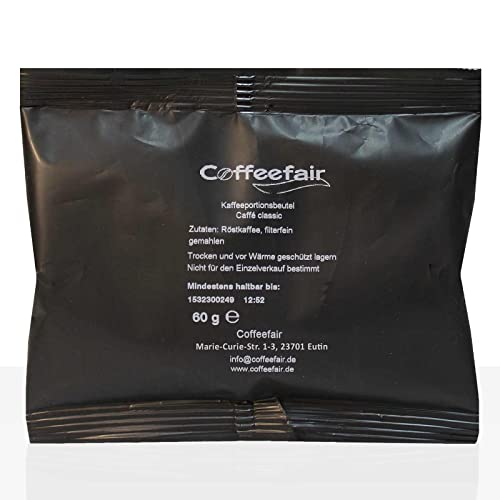 Coffeefair Filterkaffee 80 x 60g gemahlener Röstkaffee in Kannenportion von Coffeefair