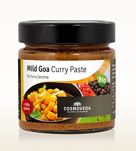 BIO Mild Goa Curry Paste 160 g von Cosmoveda