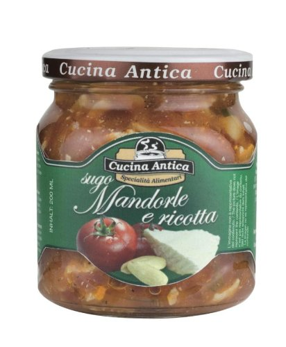Cucina Antica - Almond and Ricotta Cheese Sauce - 200 g (Pack of 2 Glass Jar) von Cucina Antica