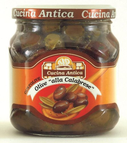 Cucina Antica - Calabrian Olives - 280 g (Pack of 2 Glass Jars) [Misc.] von Cucina Antica
