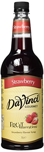 DaVinci Gourmet Fruit Innovations Strawberry Syrup Pet, 1er Pack (1 x 1 l) von Da Vinci Gourmet