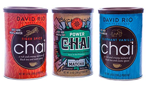 Chai Tea 3 er Set Tiger Spice, Power Chai, Elephant Vanille von David Rio