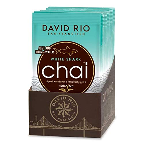 David Rio | White Shark | Chai Tea | 12x 28g | Chai Latte | 12 Portionsbeutel im Display von David Rio