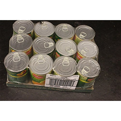 Del Monte Peach Halves in Fruit Juice 12 x 415g (Halbe Pfirsiche in Traubensaft) von Del Monte