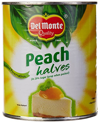 Del Monte Peach Halves in Fruit Juice 6 x 825g (Halbe Pfirsiche in Traubensaft) von Del Monte