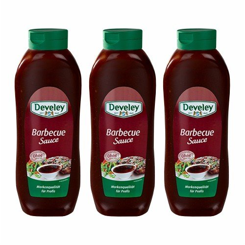 3x Develey 'Barbecue Sauce' Salsa Barbecue, 875 ml von Develey