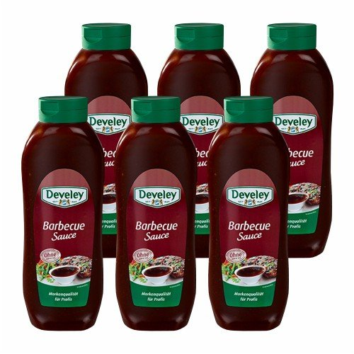 6x Develey 'Barbecue Sauce' Salsa Barbecue, 875 ml von Develey