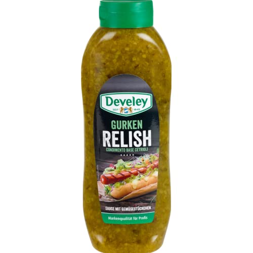 Develey Gurken Relish, 1er Pack (1 x 953 g) von Develey