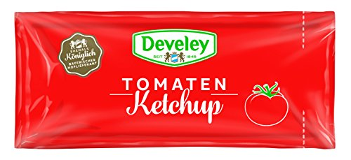 Develey Tomaten Ketchup Portionsbeutel, 100er Pack (100 x 20 ml) von Develey