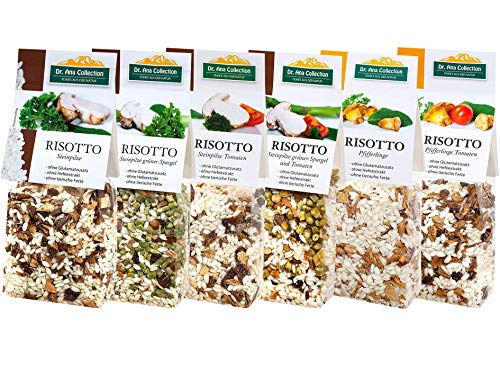 Dr. Ana Collection - Risotto Probierpaket mit Steinpilzen und Pfifferlingen (6x 200g) von Dr. Ana Collection
