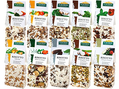 Dr. Ana Collection - Risotto Probierpaket mit Steinpilzen, Spitzmorchel, Gemüse und Pfifferlingen (10x 200g) von Dr. Ana Collection