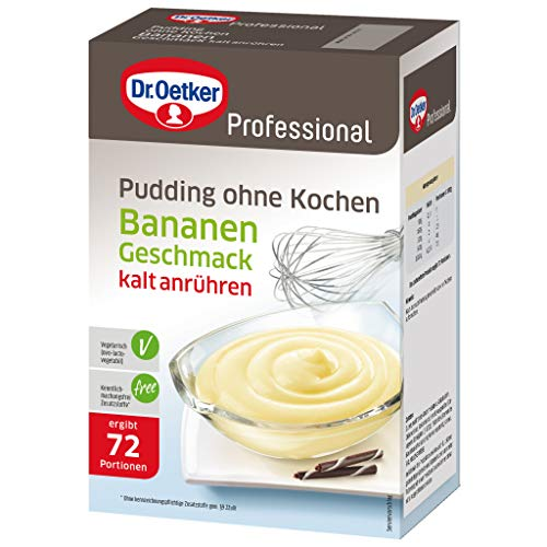 Dr. Oetker Professional Pudding ohne Kochen Bananen-Geschmack, 1000 g von Dr. Oetker Professional