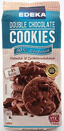 Edeka Double Chocolate Cookies, 12er Pack (12 x 200g) von Edeka