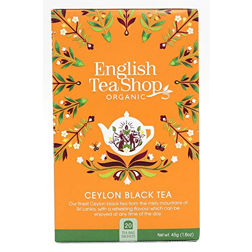 English Tea Shop - Ceylon Schwarzer Tee, BIO, 20 Teebeutel - (DE-Version) von English Tea Shop