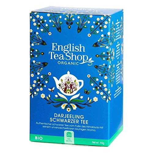English Tea Shop - Darjeeling Schwarzer Tee, BIO, 20 Teebeutel - (DE-Version) von English Tea Shop